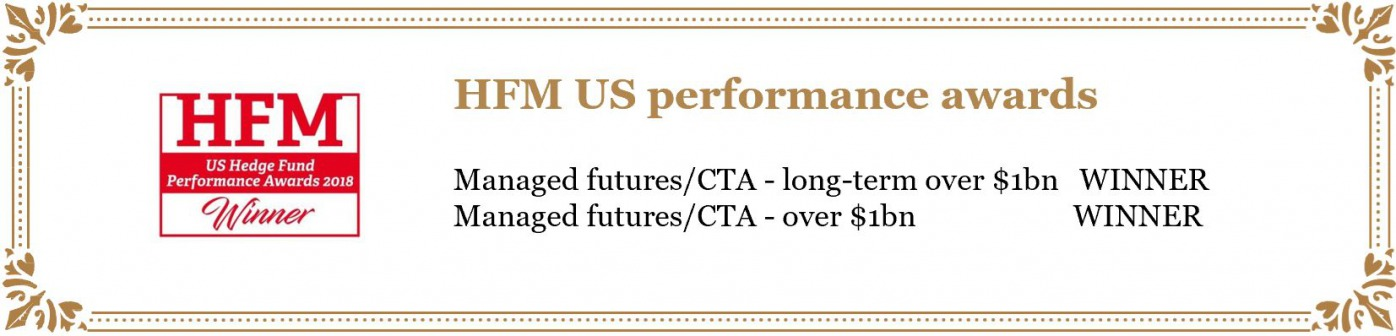 2014 Hedge Fund Intelligence - Ranking Best CTA fund over a 3-year period, Third best CTA fund over a 10-year period